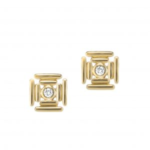 Banded Maltese Cross Earrings