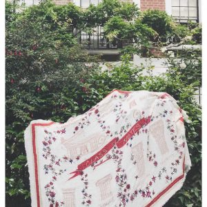 Class Notes Shawl In Ivory/Red
