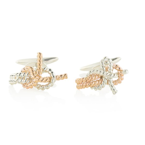 JKG Nauti Cufflinks Rose And White Gold