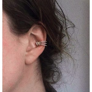 Pave Flared Doric Ear Cuff Model
