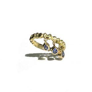 Roman Forum Stacking Ring With Tanzanite Drops