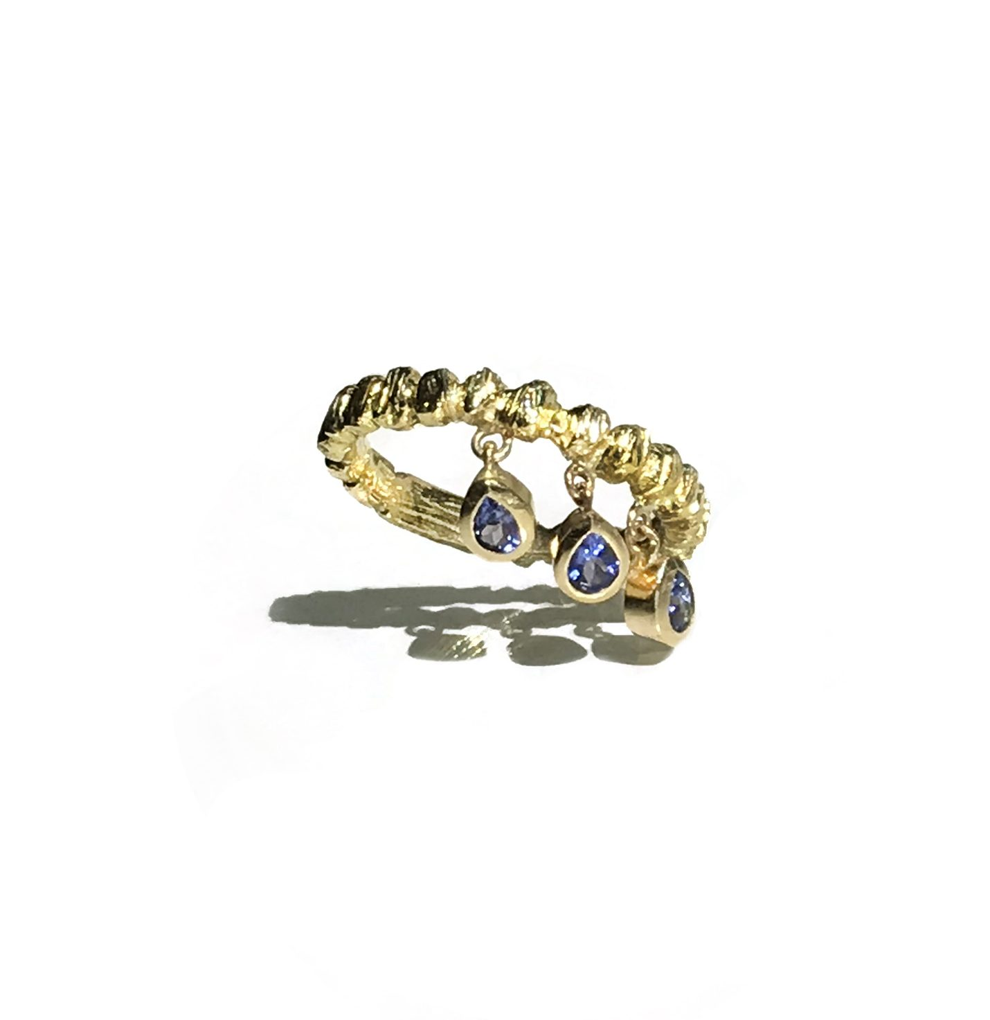 Roman Forum Stacking Ring With Tanzanite Drops