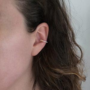 Skinny Diamond Pavé Doric Ear Cuff