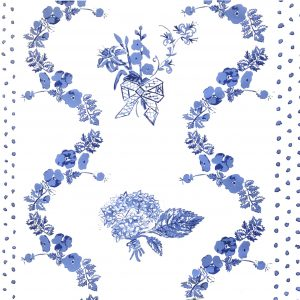 JKG Bed Linen Pattern Blue